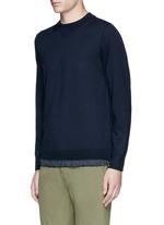 Drawstring hem wool sweater