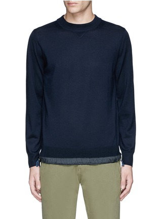 Main View - Click To Enlarge - Sacai - Drawstring hem wool sweater