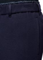 Windbreaker trim drawstring jersey sweatpants