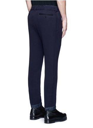 Sacai-Windbreaker trim drawstring jersey sweatpants