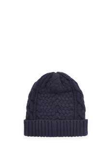 Sacai Cable knit wool beanie