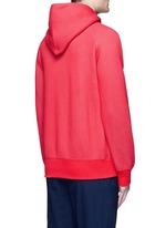 'LIIFE' embroidery cotton blend neoprene hoodie