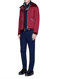 Sacai Velvet collar cotton twill blouson jacket