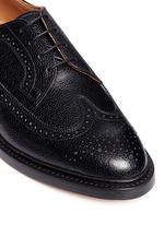 Pebble grain leather brogue Derbies