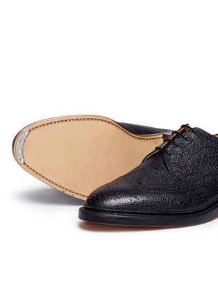 Detail View - Click To Enlarge - Thom Browne - Pebble grain leather brogue Derbies