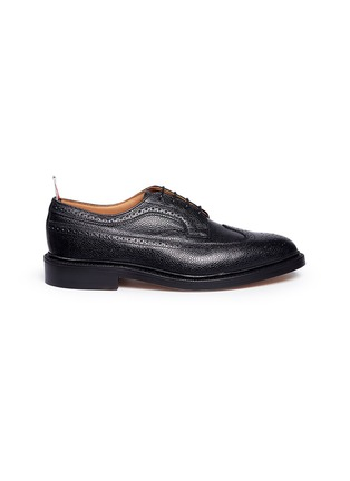 Main View - Click To Enlarge - Thom Browne - Pebble grain leather brogue Derbies