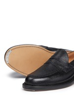 Pebble leather penny loafers