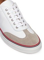 Suede toe cap leather sneakers