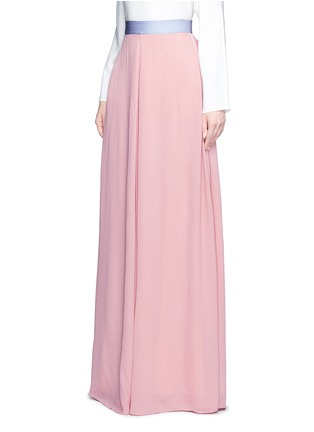 Front View - Click To Enlarge - Roksanda - 'Leighton' ladder stitch seam crepe skirt