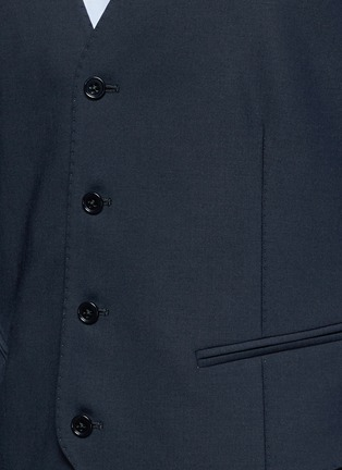 Detail View - Click To Enlarge - Armani Collezioni - Wool hopsack waistcoat