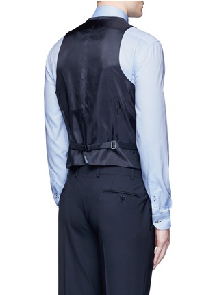 Back View - Click To Enlarge - Armani Collezioni - Wool hopsack waistcoat