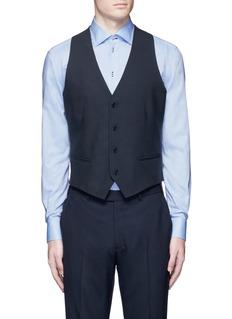 Armani CollezioniWool hopsack waistcoat