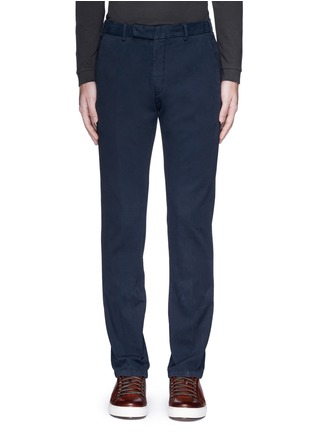 Main View - Click To Enlarge - Armani Collezioni - Slim fit cotton chinos