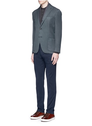 Figure View - Click To Enlarge - Armani Collezioni - Slim fit cotton chinos