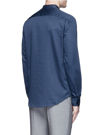 Back View - Click To Enlarge - Armani Collezioni - Triangle print cotton shirt