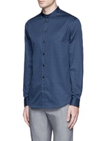 Triangle print cotton shirt