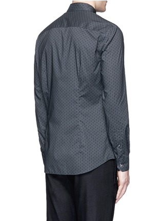 Back View - Click To Enlarge - Armani Collezioni - Diamond print cotton shirt