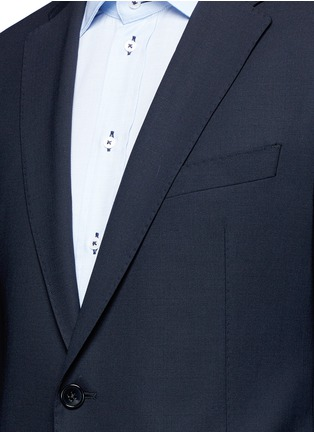 Detail View - Click To Enlarge - Armani Collezioni - 'Metropolitan' pick stitch wool suit