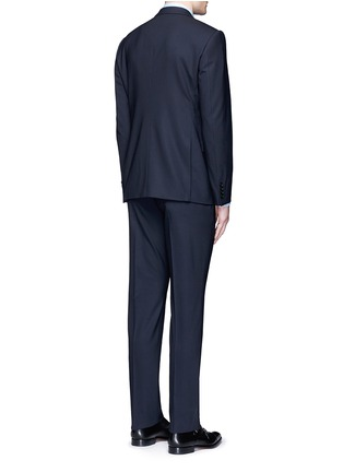 Back View - Click To Enlarge - Armani Collezioni - 'Metropolitan' pick stitch wool suit
