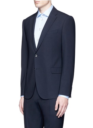 Front View - Click To Enlarge - Armani Collezioni - 'Metropolitan' pick stitch wool suit