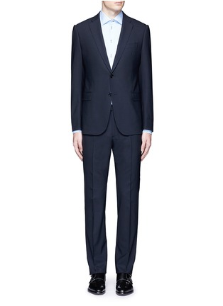 Main View - Click To Enlarge - Armani Collezioni - 'Metropolitan' pick stitch wool suit