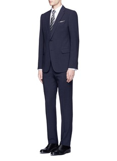 Armani Collezioni'Metropolitan' dot jacquard suit