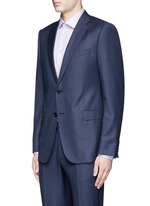 'Metropolitan' windowpane check wool suit