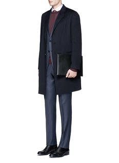 Armani Collezioni'Metropolitan' windowpane check wool suit