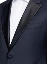 'Metropolitan' diamond jacquard wool tuxedo suit