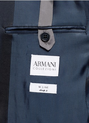 - Armani Collezioni - 'Metropolitan' diamond jacquard wool tuxedo suit