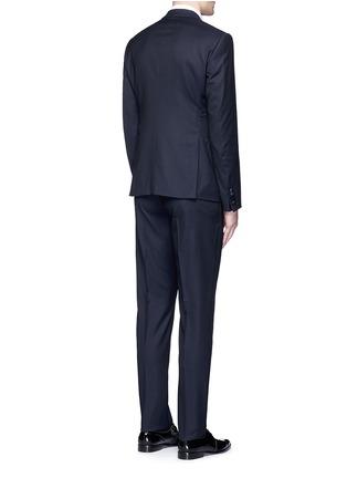 Back View - Click To Enlarge - Armani Collezioni - 'Metropolitan' diamond jacquard wool tuxedo suit
