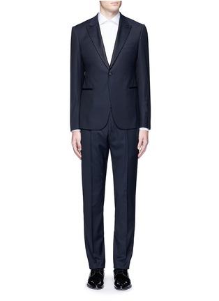 Main View - Click To Enlarge - Armani Collezioni - 'Metropolitan' diamond jacquard wool tuxedo suit