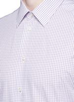 Check grid cotton shirt