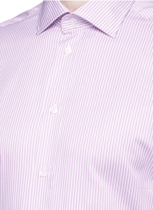 Detail View - Click To Enlarge - Armani Collezioni - Slim fit stripe cotton shirt