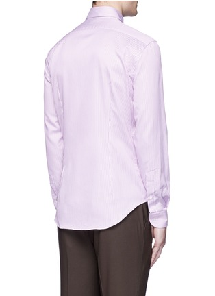 Back View - Click To Enlarge - Armani Collezioni - Slim fit stripe cotton shirt