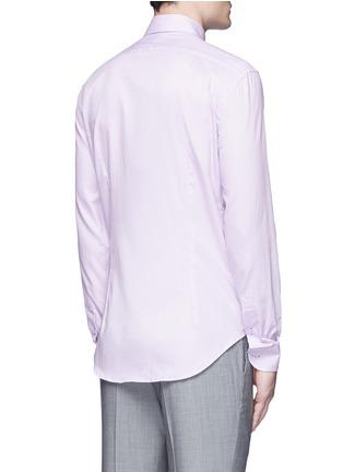 Back View - Click To Enlarge - Armani Collezioni - Slim fit cotton shirt