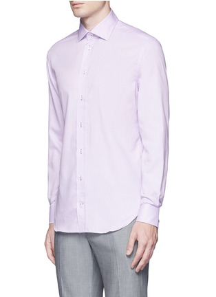 正面 -点击放大 - ARMANI COLLEZIONI - 修身横纹提花纯棉衬衫