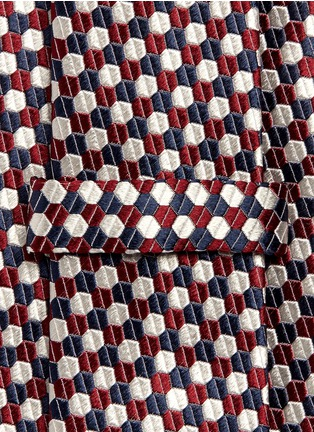 Detail View - Click To Enlarge - Armani Collezioni - Hexagon silk tie