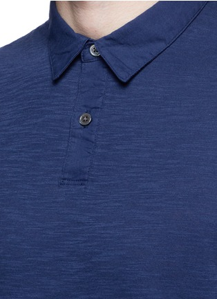 Detail View - Click To Enlarge - Theory - 'Koree' cotton slub jersey polo shirt