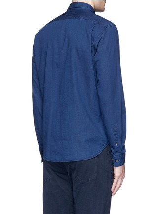 Back View - Click To Enlarge - Theory - 'Zack PS' cotton chambray shirt