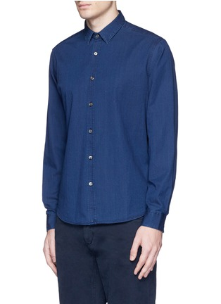 Front View - Click To Enlarge - Theory - 'Zack PS' cotton chambray shirt