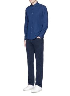 Theory'Zack PS' cotton chambray shirt