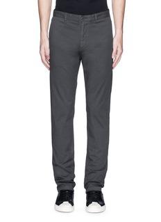 Theory'Zaine' cotton straight leg pants