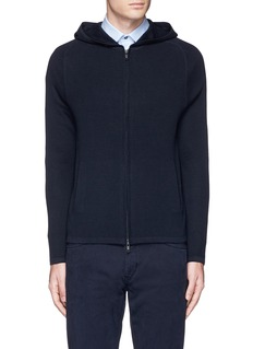 Theory'Melker' waffle knit zip front sweater