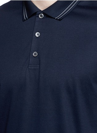 Detail View - Click To Enlarge - Theory - 'Boyd TC' cotton jersey polo shirt