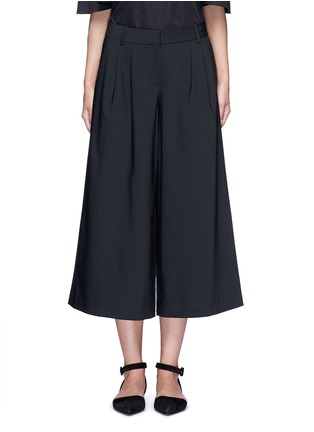 Main View - Click To Enlarge - Tibi - 'Edie' tropical wool culottes