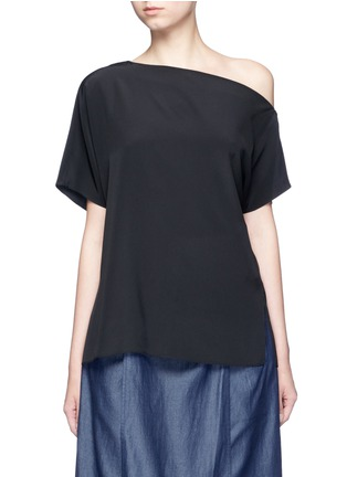 Main View - Click To Enlarge - Tibi - Silk one-shoulder top