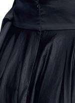 Obi sash pleat poplin skirt
