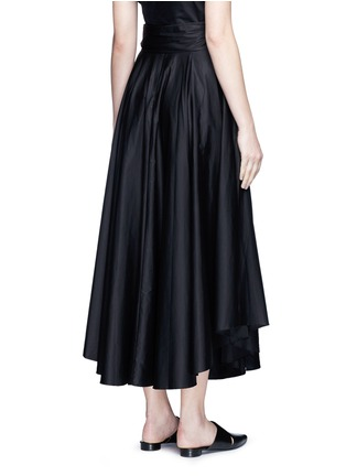 Back View - Click To Enlarge - Tibi - Obi sash pleat poplin skirt