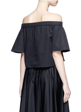 Tibi - Cotton poplin off-shoulder top